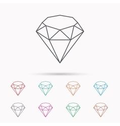 Brilliant icon Diamond gemstone sign vector image