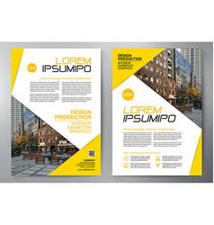 business brochure flyer design leaflets a4 vector image