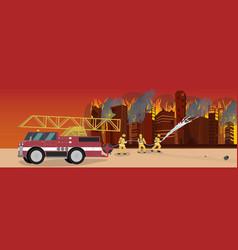 cartoon fire extinguishing vector image