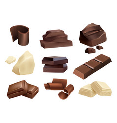 chocolate sweets dessert parts black and white vector image