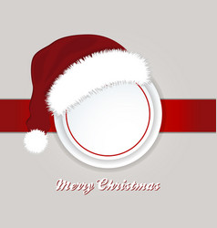 Christmas copy space border and santa hat vector