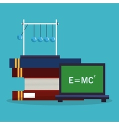 Colorful Books and science design vector