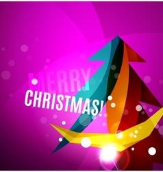 Colorful bright shiny Chrismas card vector image