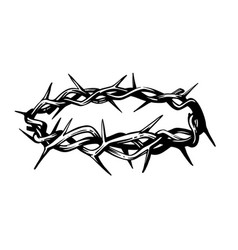 crown thorns in sketch style on white vector image