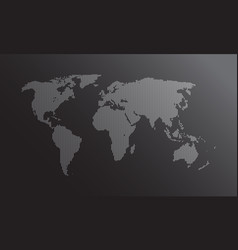 dotted world map flat earth map for websit vector image
