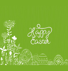 Easter eggs ornament background vector