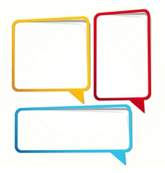 empty dialogue frame sticker vector image vector image