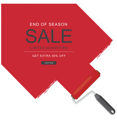 end of season sale limited quantities get extra 50 vector image