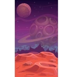 Fantastic alien landscape vector