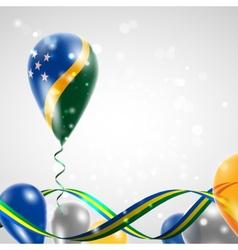 Flag of Solomon Islands on balloon vector