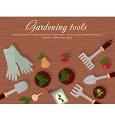 Flat of garden agricultural vector