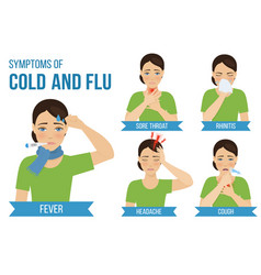 Flu and cold vector