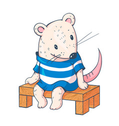 funny cartoon mousy vector image