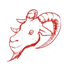 Goat animal symbol vector