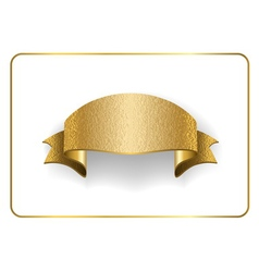 Gold ribbon foil on white vector