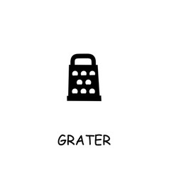 grater flat icon vector image
