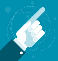 Hand with pointing index finger vector