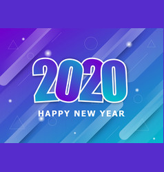 Happy new year 2020 with colourful background vector