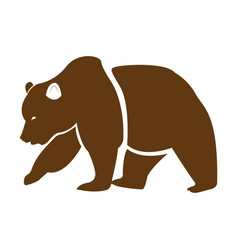 isolated abstract bear vector image