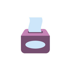 Isolated tissues icon flat design vector