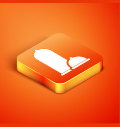 Isometric condoms safe sex icon isolated on orange vector