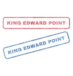 King edward textile stamps vector