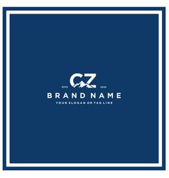 Letter cz mountain logo design vector