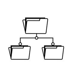 Line folder file data center server vector