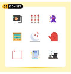 Modern set 9 flat colors and symbols vector