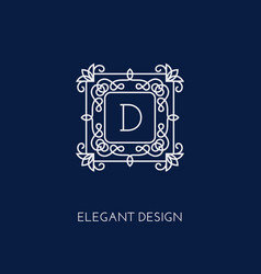 Monogram design template vector