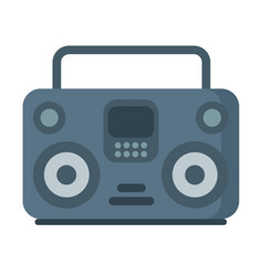 Music tape recorder boombox icon on white vector