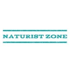 Naturist Zone Watermark Stamp vector image