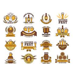 oktoberfest logo traditional beer festival vector image