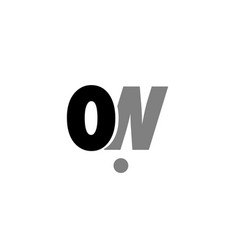 on o n black white grey alphabet letter logo icon vector image