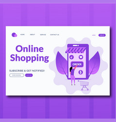 online shopping flat vector image