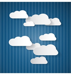 Paper Clouds on Blue Cardboard Sky vector