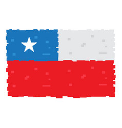 pixelated flag of chile vector image