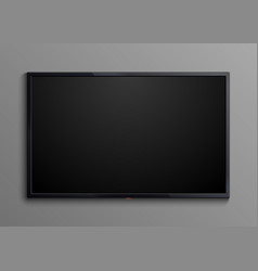 realistic black television screen isolated 3d vector image