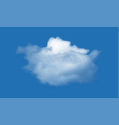 realistic cloud over blue sky background vector image