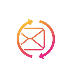resend mail icon on white vector image