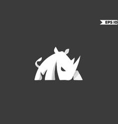 rhinoceros logo vector image
