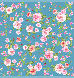 roses seamless pattern wallpaper vector image