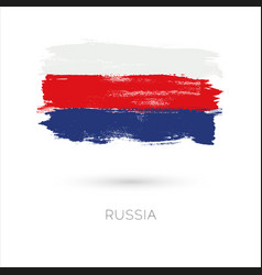 russia colorful brush strokes painted national vector image