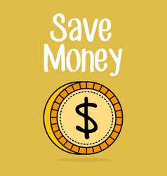 save money coin icon vector image