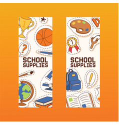 school supplies education schooling accessory for vector image