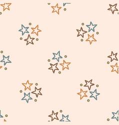 Seamless background star gender neutral pattern vector
