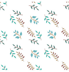 Seamless pattern pattern of colored twigs vector