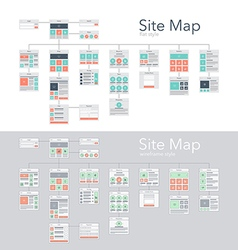 Site map vector