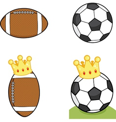 Sports ball cartoon vector