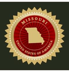 Star label Missouri vector